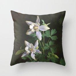 Columbine Flower Photograph Throw Pillow