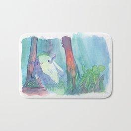 Little monster watercolor Bath Mat