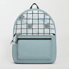 Succulents geometric composition - Mint Green Backpack