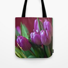 Pink Tulip Poetry Tote Bag