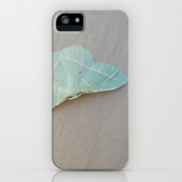 Pale Green Moth iPhone Case