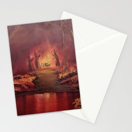 Pagan Fire Stationery Cards