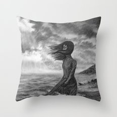 The Lighthouse Keeper's Daughter Throw Pillow