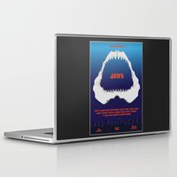jaws Laptop & iPad Skins featuring Jaws by GlennTKD
