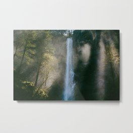 Enchanted Forest Waterfall Metal Print