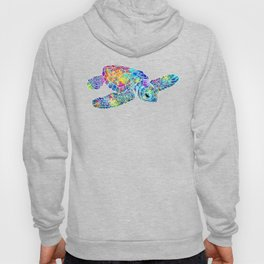 Colorful Sea Turtle Watercolor Art Hoody