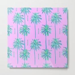 1980s 80s Vintage Retro Radical Miami Nice Palm Tree Pattern Metal Print