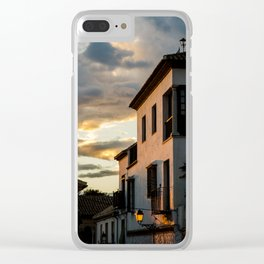 Descubrimientos de atardecer Clear iPhone Case