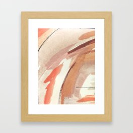 Aly: minimal   pinks   white   black   mixed media   abstract   ink   watercolor   wall art Framed Art Print