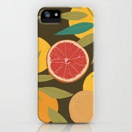 Gray Grapefruit iPhone Case