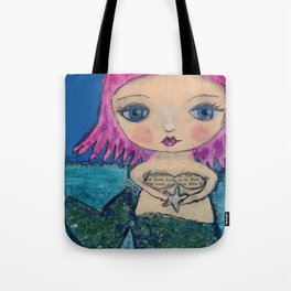 mermaid - wish upon a star Tote Bag