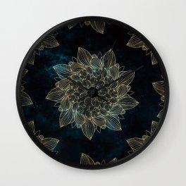 Modern Night Mandala Wall Clock