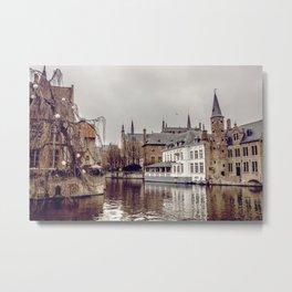 Brugges, Belgium Metal Print