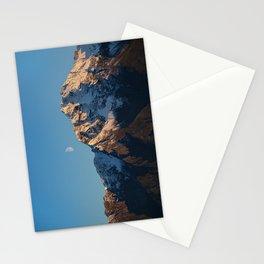 Moon Over Pioneer Peak I - Palmer, Alaska Stationery Cards