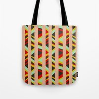 tribal Tote Bags featuring tribal by sylvie demers