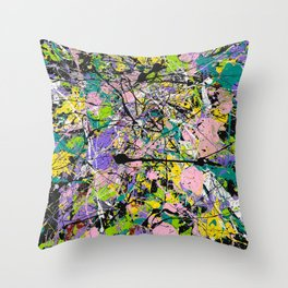 Colors in a Field Throw Pillow