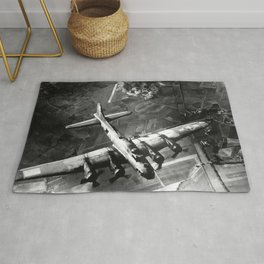 B-17 Bomber Over Germany Painting Rug