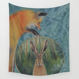 The Fox and the Hare Wall Tapestry
