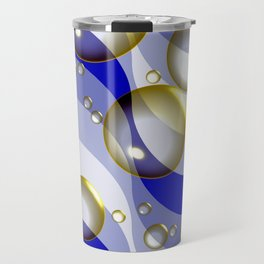 Ocean surfing (bubbles and waves) Travel Mug