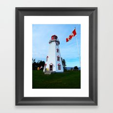 Lighthouse Panmure Island Framed Art Print