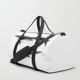 Bryde´s whale and baby whale Duffle Bag
