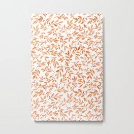 Leaves and Berries | Fall Orange Palette Metal Print
