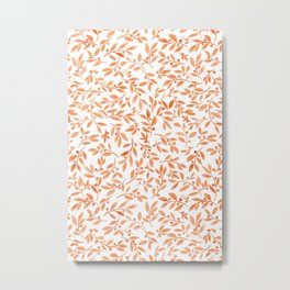 Leaves and Berries | Fall Orange Palette Metal Print