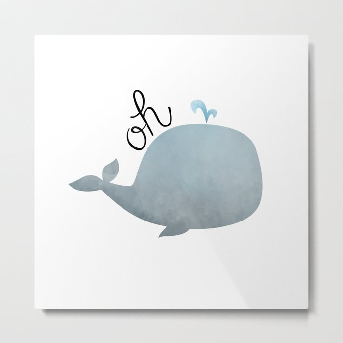 Oh Whale Metal Print