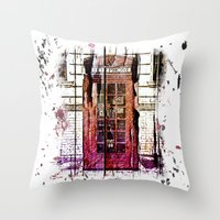 telephone Throw Pillows featuring Telephone by Del Vecchio Art by Aureo Del Vecchio