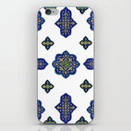Samarkand blue and yellow ornament iPhone Skin