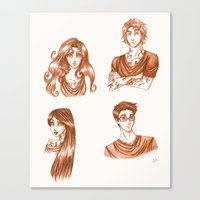 the mortal instruments Canvas Prints featuring The Moral Instruments by The Scarlet Pirate