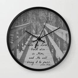 Psalm 37:5 Commit Wall Clock