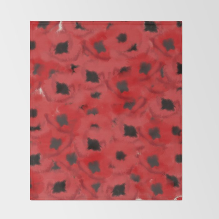 Field of Poppies In Summer Throw Blanket