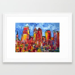 Philly Skyline Framed Art Print
