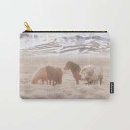 WILD AND FREE 3 - HORSES OF ICELAND Carry-All Pouch