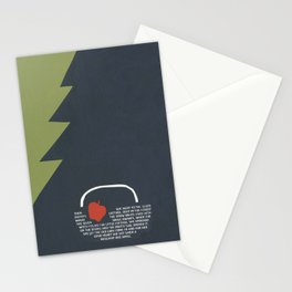 red apple Stationery Cards