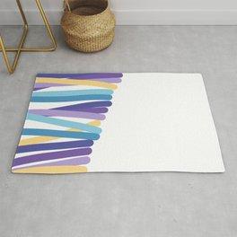 Side multicolor lines Rug