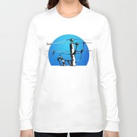transformer Long Sleeve T-shirts featuring Transformer Sky by Rebecca Joy - Joy Art and Design