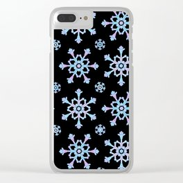 Let it Snow Mix 5 Midnight Version Clear iPhone Case