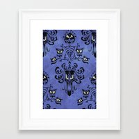 haunted mansion Framed Art Prints featuring Haunted Mansion  by Katikut