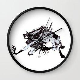 Werewolf Carousel Wall Clock