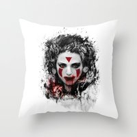 mononoke Throw Pillows featuring princess mononoke by ururuty