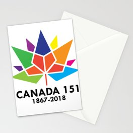 Happy Canada Day 151 1867-2018 Stationery Cards