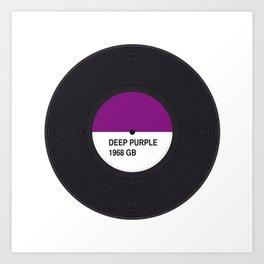 DEEP PURPLE MUSIC COLOUR Art Print