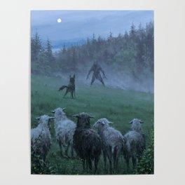 Shepherd and his faithful dog Poster