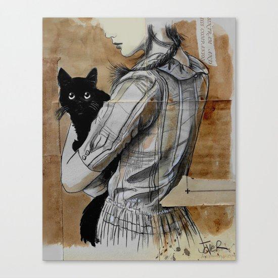 sintram and his companion Canvas Print