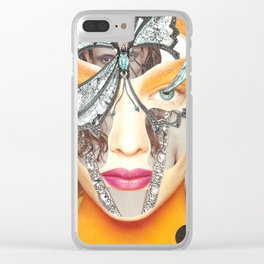 Papercollage Inside and Outside by Lenka Laskoradova Clear iPhone Case