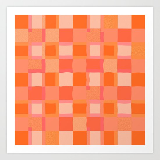 A Peachy Curtain Art Print