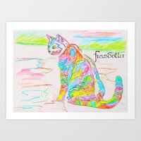Psyho cat Art Print