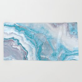 Ocean Foam Mermaid Marble Beach Towel